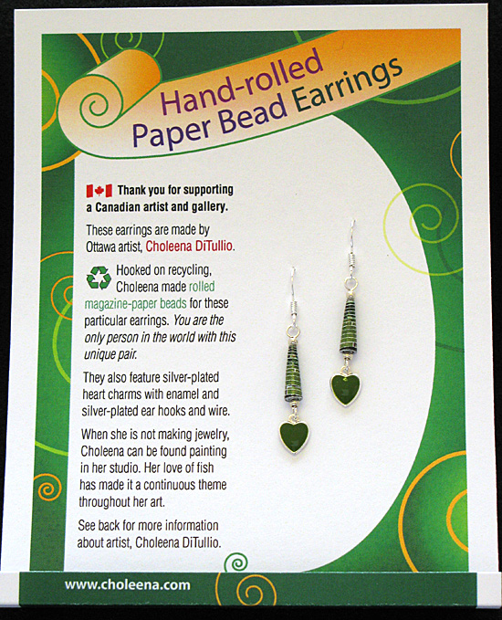 SOLD! - Valentine Earrings - Mossy Green