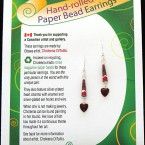 SOLD! - Valentine Earrings - Deep Red
