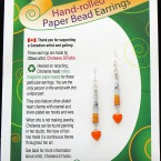 Valentine Earrings - Orange