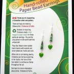 SOLD - Valentine Earrings - Green Coral