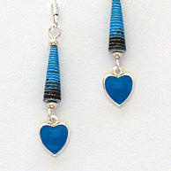 detail photo of valentine earrings
