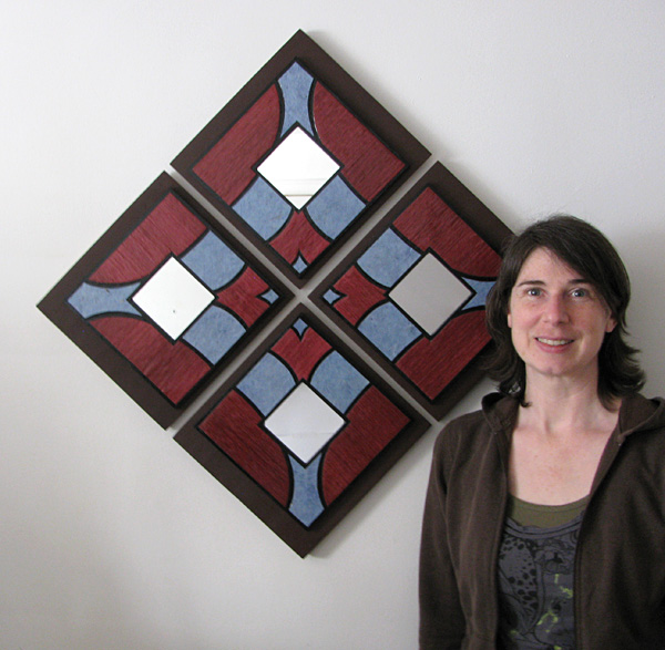 Artitecture adds the appearance of a stained glass window to your wall