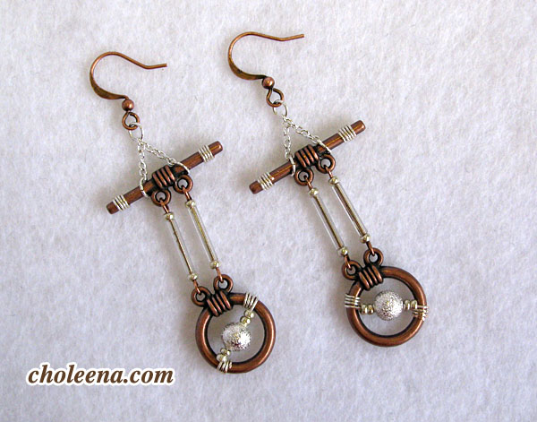 steampunk earrings by Choleena DiTullio
