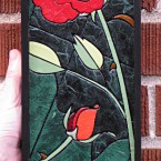 Rose (mini vertical). Recycled paper-tile mosaic. 81 pieces. $135 tax-free. 5&quot;Wx14&quot;H. Very reasonable shipping available.