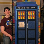 Police Box (large). 29.5 x 61.5. Framed. $1776. Tax-free. 397 tile pieces.