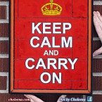 "Keep Calm and Carry On; $180; no tax. SIZE: 13.5""W x 16.75""H"