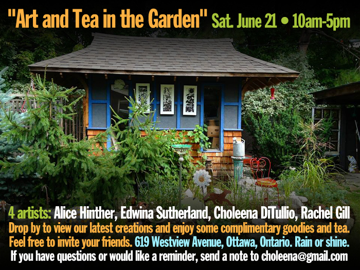 """Art and Tea in the Garden"" Sat. June 21, 2014 • 10am-5pm"