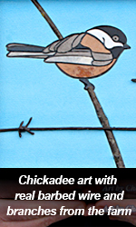 Chickadee artwork Fundraiser