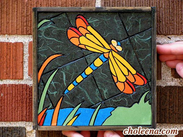 Paper tile mosaic