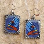 Fish earrings on pewter. $18