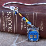 TARDIS image as bookmark.
