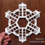 TARDIS paper snowflakes that I make.