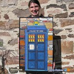 A  medium-sized mosaic TARDIS.