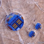 Earring/necklace set for Doctor Who lovers.