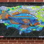 """First Run (large) Recycled paper mosaic (1031 pieces)  Framed; 32.5 x 60.5"""" $3032"""