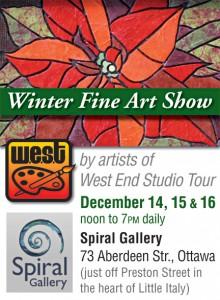 West-End Studio Tour artists host 2012 Winter Fine Art Show