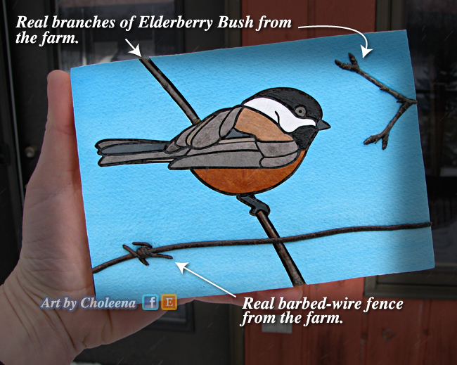 farm-chickadee art fundraiser