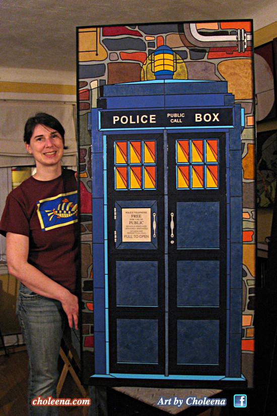 Police Call Box Tardis Doctor Who BBC London England