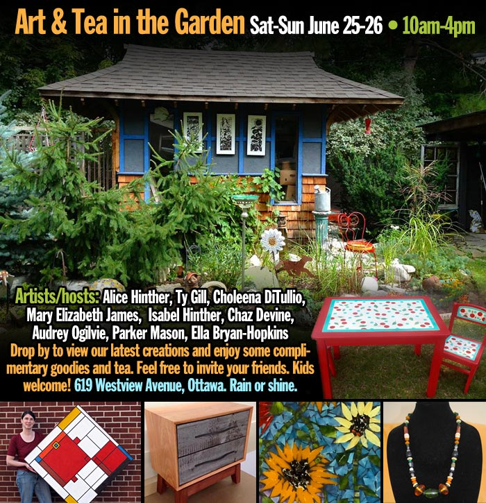 art and tea in the garden, ottawa, ON, Canada