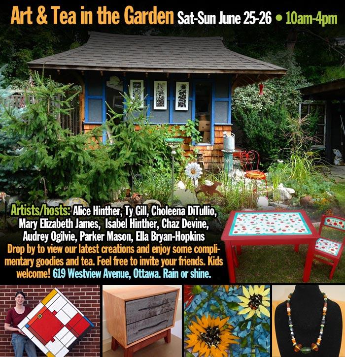 art and tea in the garden, ottawa, ON, Canada